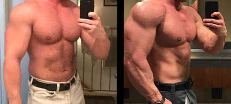 before steroid use and after