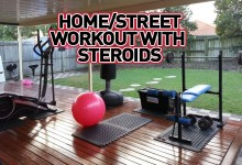 Home-Street workout with steroids
